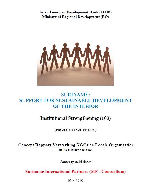 Concept Rapport Versterking NGOs en Locale Organisaties in het Binnenland
