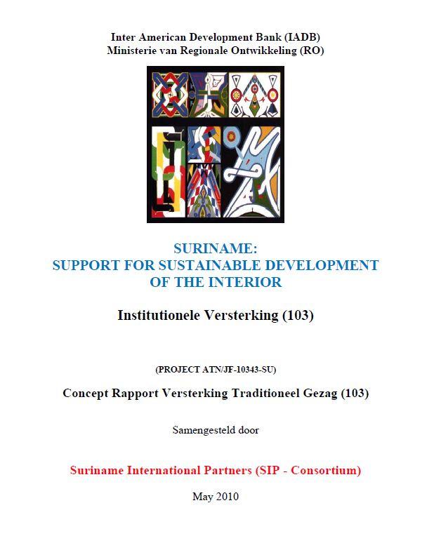Concept Rapport Versterking Traditioneel Gezag - SSDI