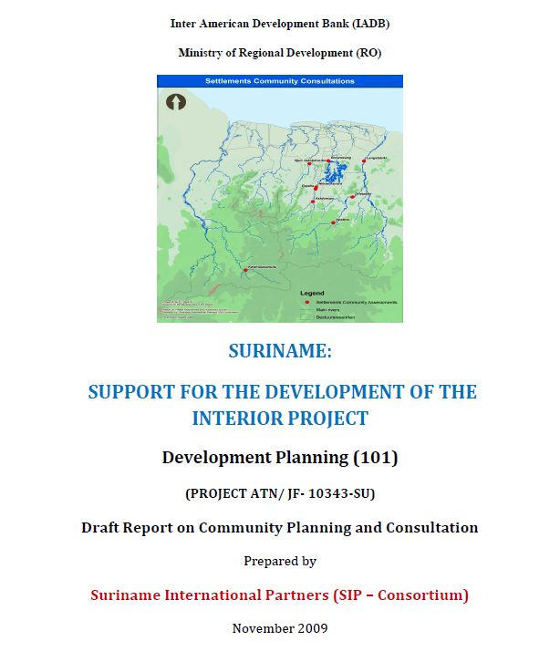 Draft Report on Community Planning and Consultation - SSDI