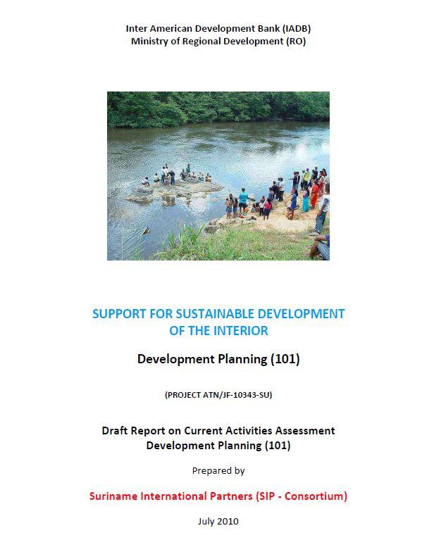 Draft Report on Current Activities Assessment Development Planning - SSDI
