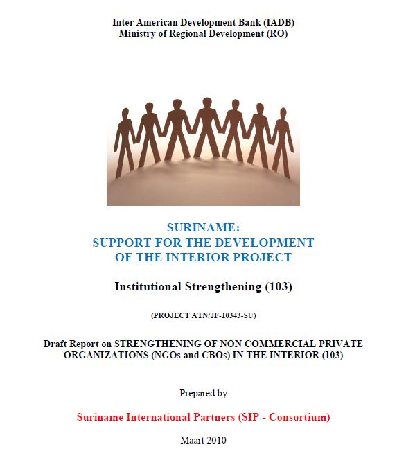Draft Report on STRENGTHENING OF NON COMMERCIAL PRIVATE ORGANIZATIONS