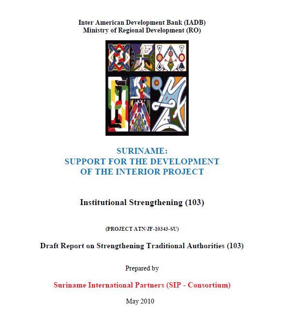 Draft Report on Strengthening Traditional Authorities - SSDI