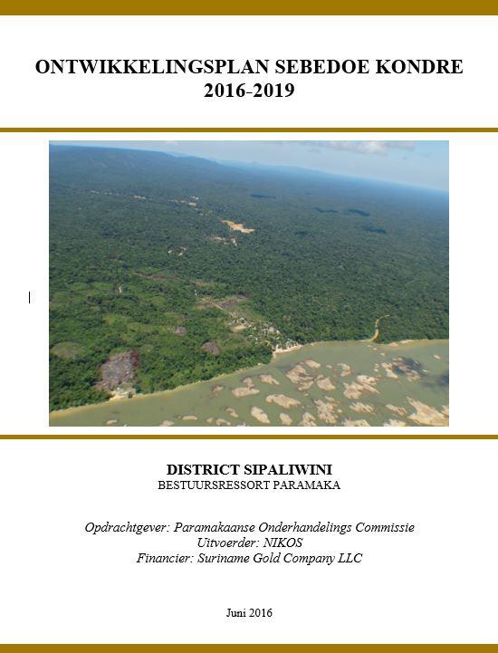 Ontwikkelingsplan Sebedoe kondre